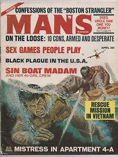 MAN'S MAGAZINE  APRIL 1967   MEN'S ADVENTURE   BOSTON STRANGLER