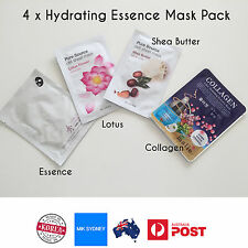 4x Moisture Essence Face Mask Lotus Shea Butter Collagen Mask Facial Clean Skin