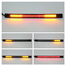 Motorcycle Flexible 48 LED Tail Rear Brake Turn Signal Indicadores Light Strip