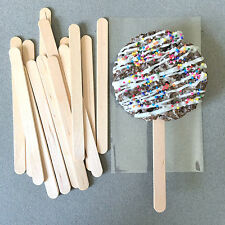 100 Wooden Popsicle Sticks, Wooden Ice Cream Sticks, Wooden Lollipop Sticks