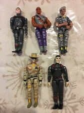 Vintage 1980's Lanard Corps Action Figure Lot (5) Military Toy