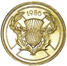 1986 £2 COIN COMMONWEALTH GAMES SCOTLAND 2 POUND SCOTTISH THISTLE EDINBURGH zz