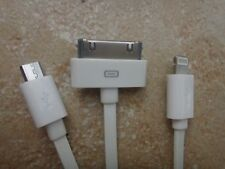 3 IN 1 Cable Portable Data Sync Charger iPhone 5 5S 4S 4G iPod NANO TOUCH MICRO