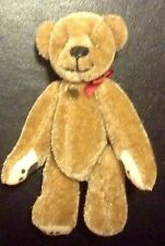 3 INCH TALL GANZ MINIATURE BEAR NO TAG PAW PRINTS ON ALL PAWS HEART ON CHEST