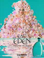 PUBLICITE ADVERTISING 035  1996  CACHAREL parfum EAU D'EDEN  pour femme
