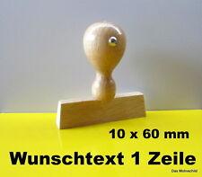Holzstempel,mit Textplatte,10 x 60 mm,1 Zeile,Firmenstempel,,Adressstempel