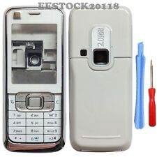 Silver White Fascia Full Housing Case Cover Nokia 6120 6121 Classic 6120C +TL