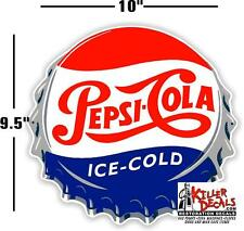 "(PC-221) 10"" PEPSI CAP  ICE COLD SODA POP VENDING MACHINE COOLER OR GUMBALL"