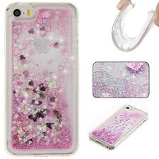 Glitter Heart Dynamic Liquid Soft TPU Silicone Case Cover for iPhone 7 7 Plus 6S