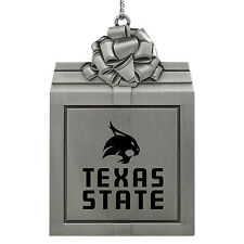 Texas State University -Pewter Christmas Holiday Ornament-Silver