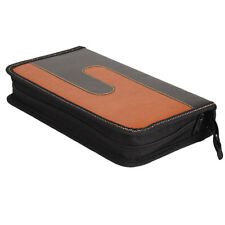 80 Disc CD VCD DVD Music DJ Album Organizer Storage Case Wallet Black & Orange
