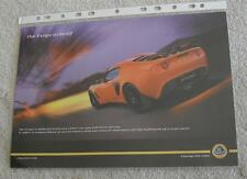 Lotus elise double face brochure flyer c 2005