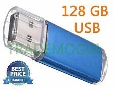 Sleek BLUE 128GB BRAND NEW USB 2.0 Thumb Pen Flash Drive Memory Stick Storage