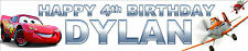 2 x CARS AND PLANES PERSONALISED BIRTHDAY BANNERS