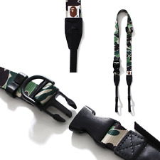 * A BATHING APE ABC CAMERA STRAP Shoulder Neck Green Best Buy From Japan New