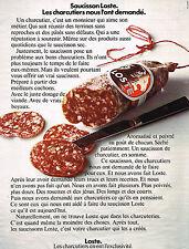 PUBLICITE ADVERTISING 044   1972  LOSTE  saucisson charcuterie