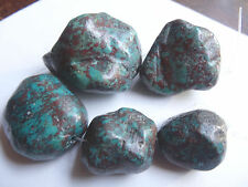 """6 3/4"""" Strand 28-47mm Long Turquoise Nugget Stone Beads Pendants A37A DNG"""