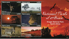 Sierra Leone 2015 MNH National Parks of Africa Kruger South Africa 6v M/S II