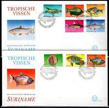 Suriname - 1980 Fish - Mi. 910-17 clean FDC's