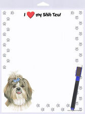 Shih Tzu Dog Memo Board Magnetic Notepad Sign & Dog Pen 8×10