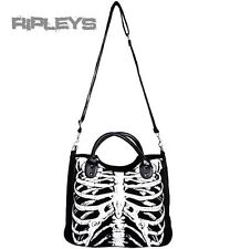 BANNED Clothing  Black SKELETON Ribcage Handbag Shoulder Bag GLOW