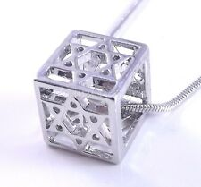 3 Dimensions Star Of David Magen Judaica Necklace Pendant Kabbalah Silver 3D