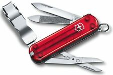 Victorinox Swiss Army Nail Clipper 580 Swiss Army Knife Ruby Trans 0.6463.TUS2