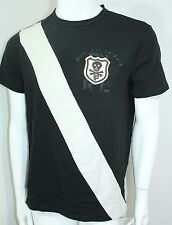 Polo Ralph Lauren Skull Stitched Banner-Stripe Jersey T-Shirt, Black,Medium NWT