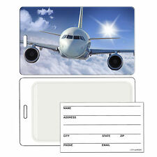 Luggage Bag Travel Tag with 3D Airplane Effect Lenticular #LT01-278#