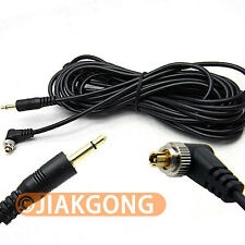 5M 16ft 3.5mm to Male PC Sync FLASH Cable w/ Screw Lock