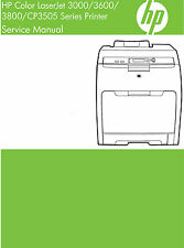 HP Color Laserjet 3000 / 3600 / 3800 / CP3505 Printer Service Manual