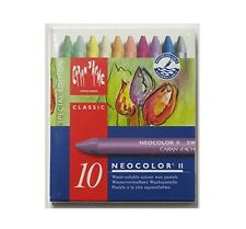 CARAN D'ACHE NEOCOLOR II TIN of 10 water soluble wax pastels