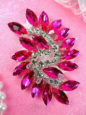 JB234 Marquise Crystal Glass Rhinestone Applique Hot Pink Sewing Craft Supplies