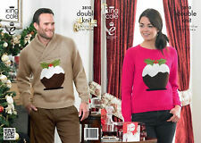 King Cole DK Knitting Pattern 3810 Mens & Ladies Xmas Pudding Sweaters