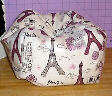 Paris Glitter Eiffel Tower Bean Bag Chair made to fit American Girl dolls Grace