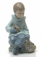 LLADRO Nao  Boy Resting On Excursion #1037 Retired