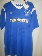 Rangers 2011-2012 Squad Signed Home Football Shirt Program and Ticket (14829)