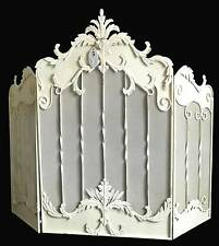 style ancien antique grand ecran grille pare feu protection de cheminee en fer