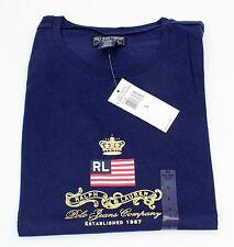 Ladies Ralph Lauren Polo Jeans Dark Blue T-Shirt Junior 100% Cotton Size L
