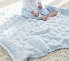 KNITTING PATTERN - LOVELY BABY BLANKET - A SEA OF BEAUTIFUL BUTTERFLIES