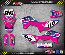KTM 65 2009 2015  model ACTIVE PINK STYLE - Full Graphics custom kit decals