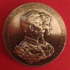 Germany, Kaiser Wilhelm and Auguste Victoria silver dual portrait medal