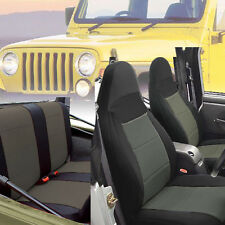 Jeep Wrangler 1997-02 Neoprene Front & Rear Car Seat Cover Charcoal grey tj127G