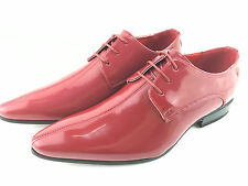 MENS BROGUE Red White Black PATENT GANGSTER POINTED LEATHER JAZZ SPAT SHOE