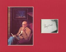 George Abbott Broadway Playwright Producer Tony Signed Autograph Photo Display