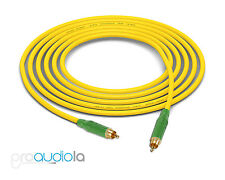 Mogami 2534 Quad Cable | Green Amphenol RCA to RCA | Yellow 18 Feet 18 Ft. 18'