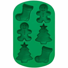 Christmas Mini Stocking, Gingerbread Boy & Tree Mold 6 molds from Wilton #4893