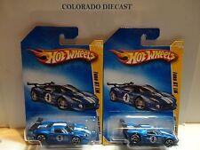 2009 Hot Wheels #39 Blue Ford GT LM w/ & w/o All Small PR5 Spoke Wheels