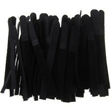 10 x Reusable Nylon Velcro Hook Loop Cable Cord Ties Tidy Straps Organiser Black
