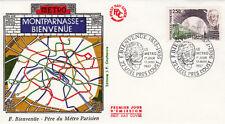 Enveloppe 1er Jour UZEL-PRES L'OUST 17/01/1987 Fulgence Bienvenue éd courbevoie